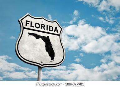 Florida State - 3D road sign illustration