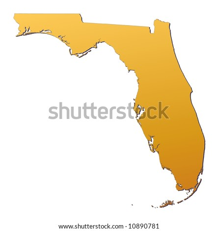 Florida Usa Map.Royalty Free Stock Illustration Of Florida Usa Map Filled Orange