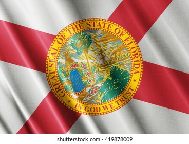 Florida waving flag close