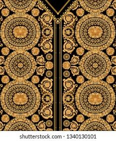 flover gold black background