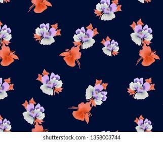 flover leaf print pattern elegance