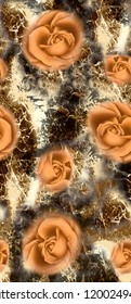 flower with Abstract background
