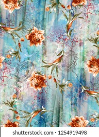 Flower Background Colour Pattern Image Cute Graphics Digital Vintage Colourfull