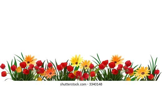 flower background layout, element