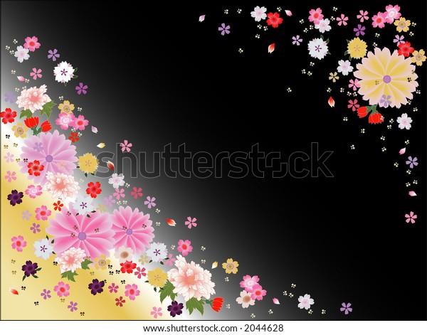 Flower background on Japanese theme