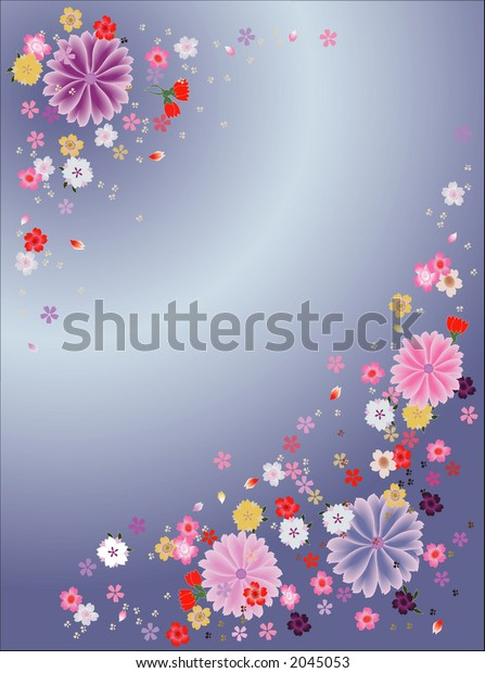 Flower background in soft colors