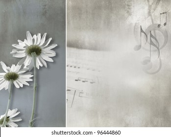Flower background vintage design - abstract daisies
