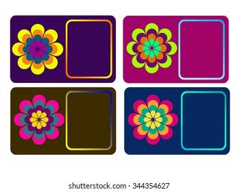 Set Flower Calling Cards Business Cards Stock Illustration 344354642