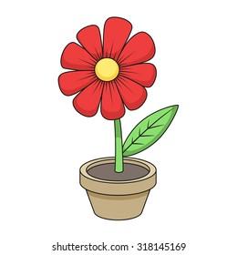 Flower cartoon raster version