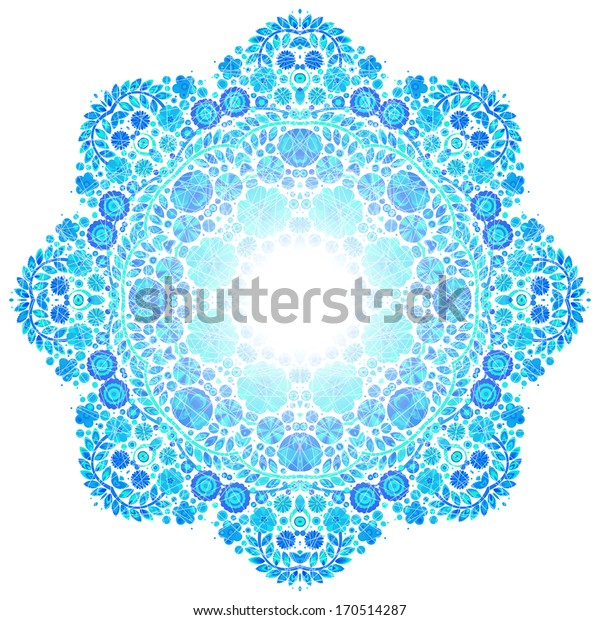 flower circle design on grunge background with lace ornament Template frame design for card. Vintage Lace Doily. Can be used for packaging, invitations, Valentine's Day, mass print production.