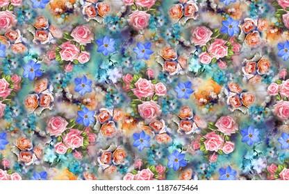 Flower with Digital Fabric Design