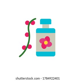 Flower flask box icon. Simple color illustration elements of botanicals icons for ui and ux, website or mobile application