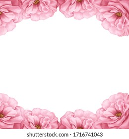 Flower frame layout for sign or name tag about product lmply to sweet, fragrant and Cherish. Use be greet card , wedding card ,varentine day card and etc. Digitalpainting and illustration.