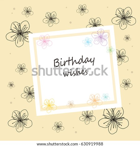 Flower Greeting Box Birthday Wishes Stock Illustration