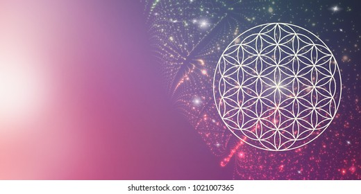 flower of life - colorful cosmic background
