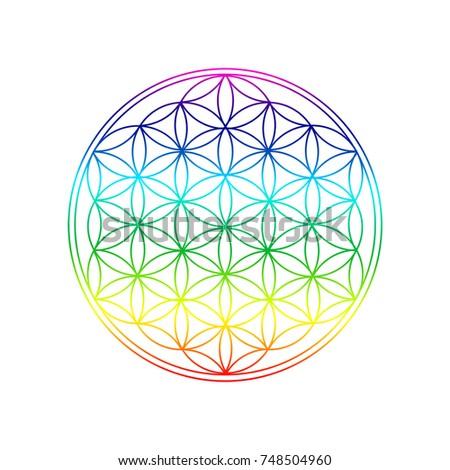 Royalty Free Stock Illustration Of Flower Life Symbol Spiritual
