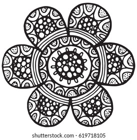 Flower Mandala Vector Isolated Element Floral Stock Vector Royalty