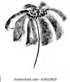 flower painted coal