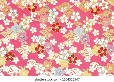 Flower pattern background, White and black floral ornament