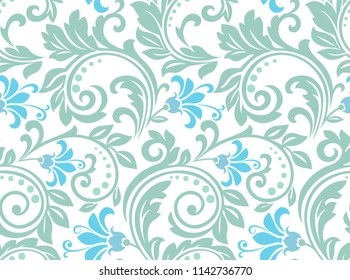 Flower pattern. Seamless color ornament. Graphic background. Ornament for fabric, wallpaper, packaging