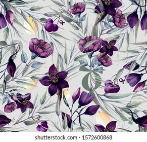 Flower, pattern, vintage ornament ,background , silk scarf
