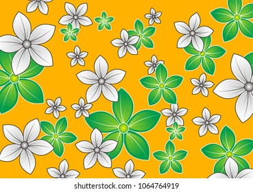 Flower Pettern Design, Cute Floral pattern of small flowers. 1012064473
