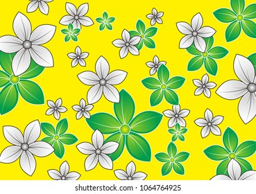 Flower Pettern Design,  Floral pattern. Flower seamless background. Flourish ornamental spring garden texture.