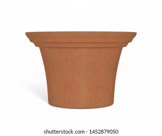Flower Pot isolated on a Background  3D Illustration