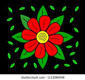 Flower Red Daisy