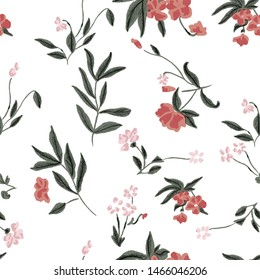Flower seamless pattern  Pretty flowers home decor, fashion, tropical Vibrant colors, bloom, elegance  miniprint