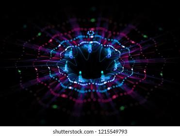 Flower Wormhole Curvature Space-Time, Multidimensional Space, Blackhole Funnel Concept