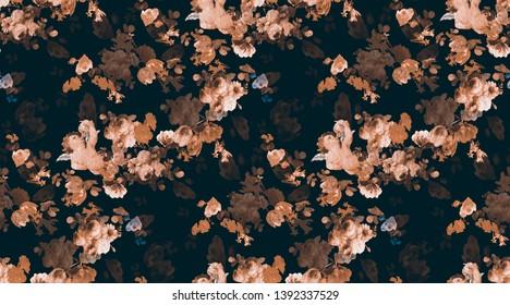 flowers angel elegance fabric pattern