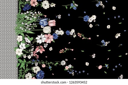 flowers fashion fabric pattern
