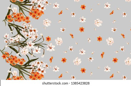 flowers fashion fabric pattern design
