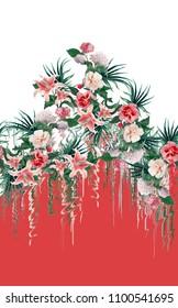 Flowers fashion fabric textile pattern design