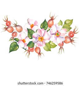 flowers garland.watercolor