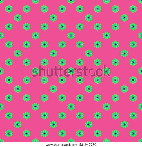 Flowers geometric seamless pattern. Fashion graphic background design. Modern stylish abstract texture. Colorful template 4 prints, textiles, wrapping, wallpaper, website etc Stock illustration