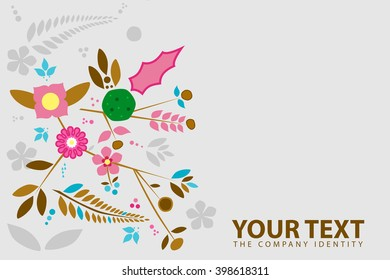Flowers illustration cover design for product