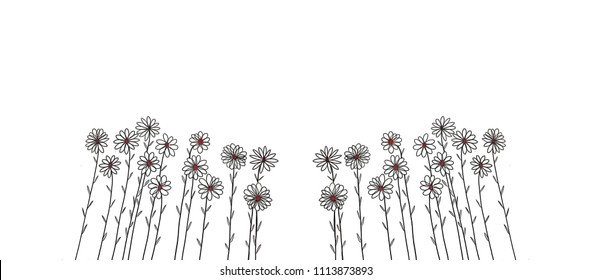 Crayon drawing flower images stock photos vectors shutterstock flowers illustration on over white backgroundhand painting and drawdecorative series with pen mightylinksfo