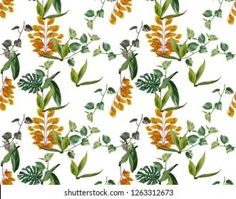 Flowers leaf pattern