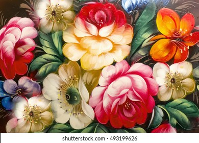 Flowers, Oil Painting, Impressionism style, Still life art colored color image, wallpaper and backgrounds, canvas, artist, painting floral pattern,