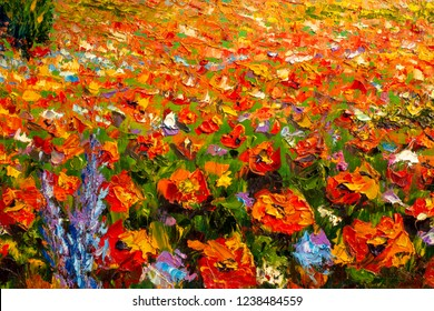 Flowers paintings monet painting claude impressionism paint landscape flower meadow oil