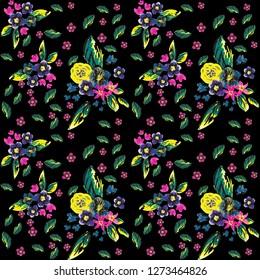 flowers pattern, floral, daisy, roses, wallpepar, print, scarf pattern