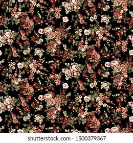 Flowers pattern. Seamless floral background.