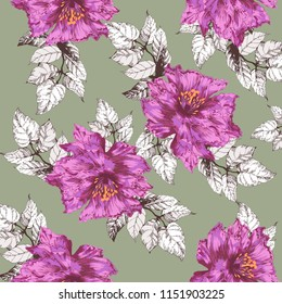 Flowers pattern. For textile, wallpaper, pattern fills, covers, surface, print, gift wrap, scarf,
