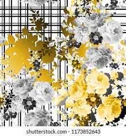 flowers pattern..for textile, wallpaper, pattern fills, covers, surface, print, gift wrap, scrapbooking, decoupage.Seamless pattern.
