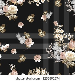 Flowers pattern..for textile, wallpaper, pattern fills, covers, surface, print, gift wrap, scrapbooking, decoupage.Seamless pattern