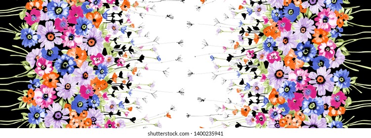 Flowers pattern..for textile, wallpaper, pattern fills, covers, surface, print, gift wrap, scrapbooking, decoupage
