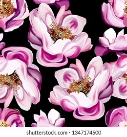 flowers seamless flover