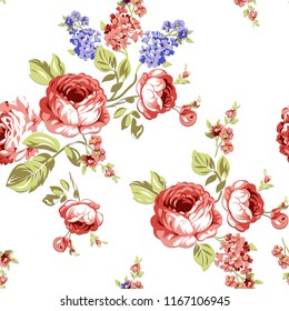Flowers seamless pattern for textile, pattern fills, surface, print, Silk scarf